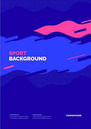 Poster design with waves for sports event, competition or championship. Sports background.