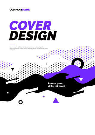 Layout design with abstract dynamic waves. Vector illustration for poster, flyer or website design.