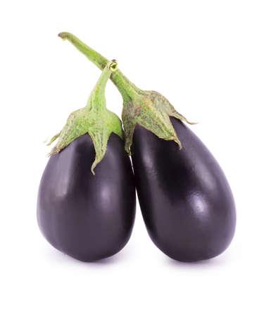 brinjal: Eggplant on a white background Stock Photo