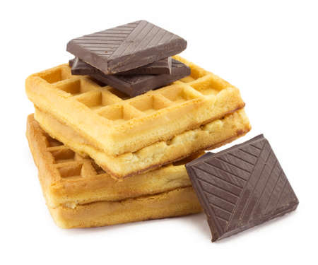 wafer, chocolate on white background Stock Photo - 15686717