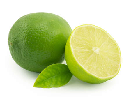 lemon; lime on a white background photo