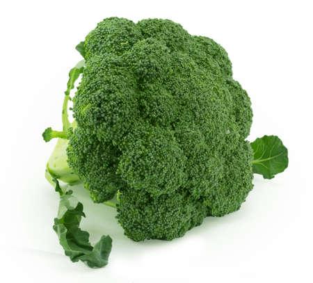 broccoli still life on a white background Stock Photo