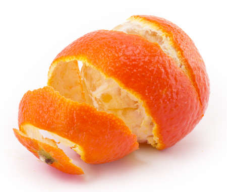 bright juicy tangerines on a white background photo