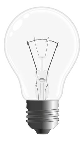 incandescent:  single incandescent bulb lamp