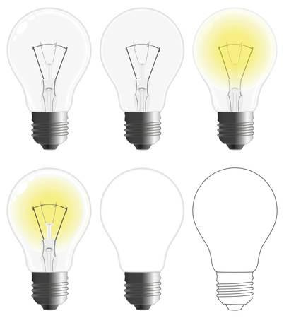 incandescent: incandescent lamp  Illustration