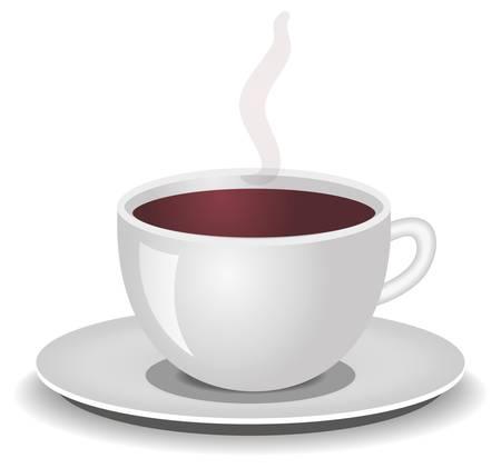 tazza di th�: tazza di caff�, t� Vettoriali