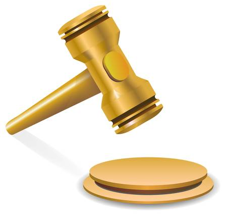 auction gavel Stock Vector - 15947824