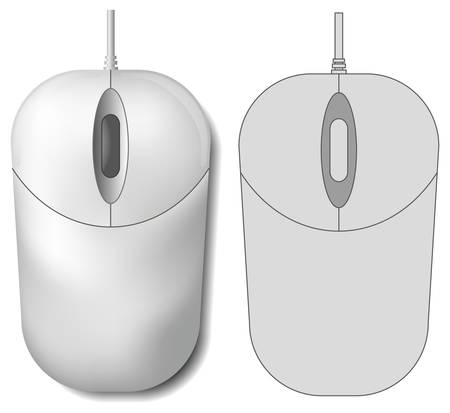 scroll wheel: Computer mouse Illustration