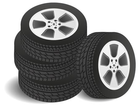 set of tires Stock Vector - 15947831