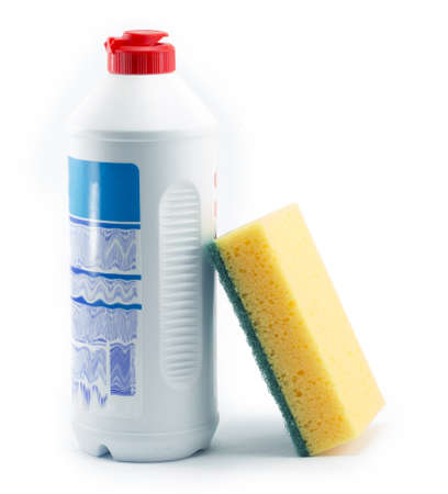 cleaners, detergents, household cleaning sponge for cleaning photo