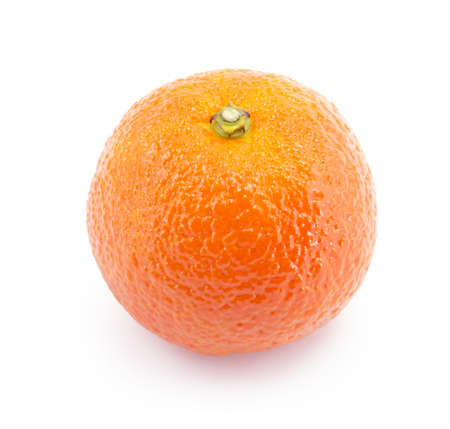 ripe juicy tangerine on a white background photo