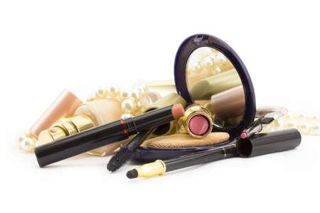 concealer: cosmetici per il viso, cipria, fard, correttore Archivio Fotografico