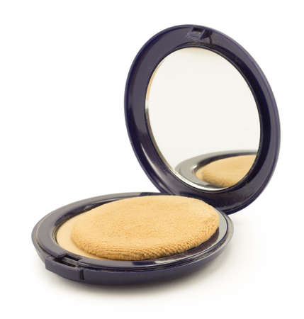 cosmetics for face, face powder, blush, concealer photo