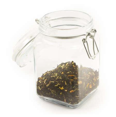 tea on a white background photo
