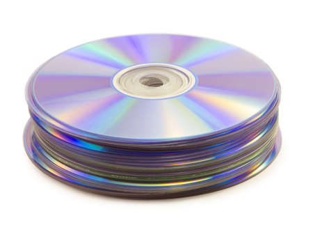 dvd disk isolated on white background photo
