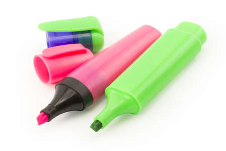 Color Markers on White Background photo