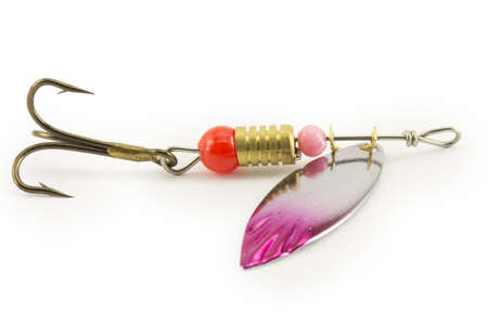 color image fish hook: fishing lure isolated on white background