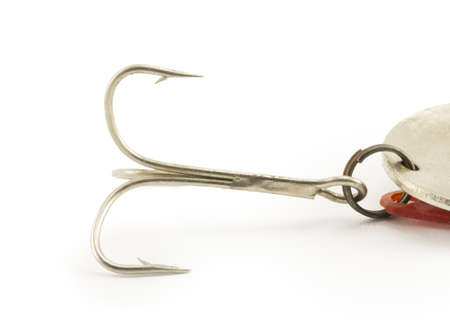 fishing hook isolated on white background Stock Photo - 16676404