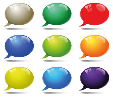speech bubbles abstract expression of the speech Stock Vector - 16708602