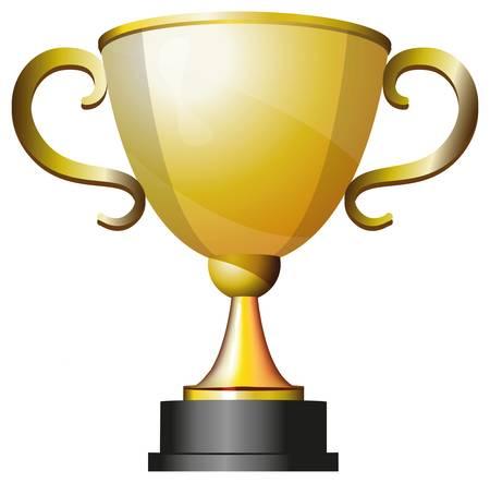 Trophy cup gold für den ersten Platz Standard-Bild - 16708596