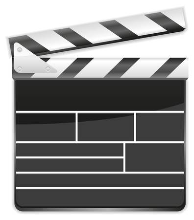 movie clapperboard vector on a white background Illustration