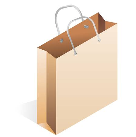 paper bag isolated on white background Vector