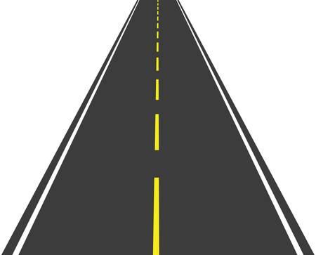 Lange Straße, die in die Ferne Standard-Bild - 16708601