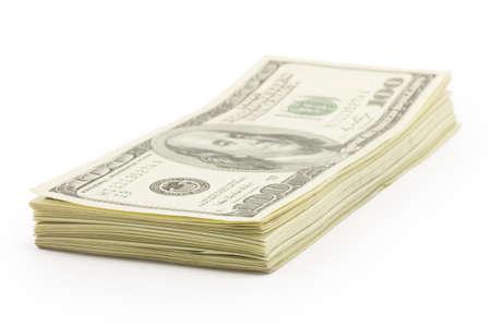 money, dollars isolated on white background Stock Photo - 16793265