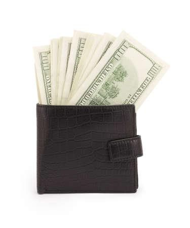 money, dollars isolated on white background