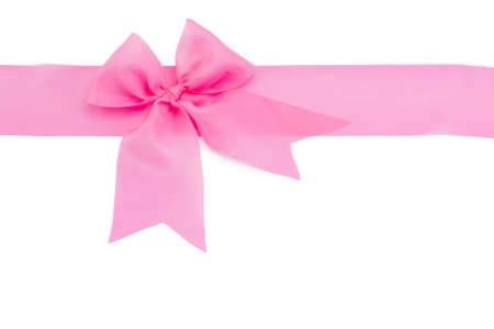 ribbon bow isolated on white background photo