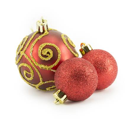New Year, Christmas balls, decorations and gifts, holiday traditions photo