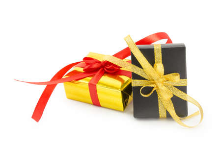 wrapped presents with bows and ribbons, box Stock Photo - 17068725