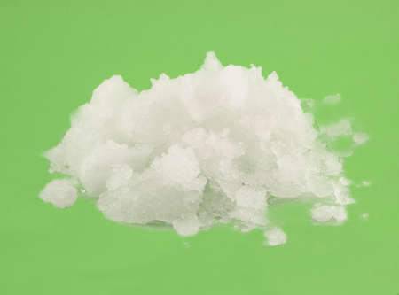 snow plow: pile of snow on a green background