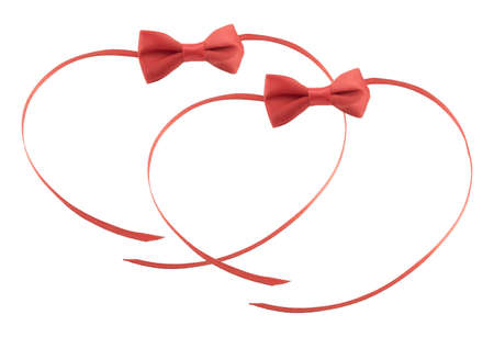 bow ribbon isolated on white background Stock Photo - 17142330