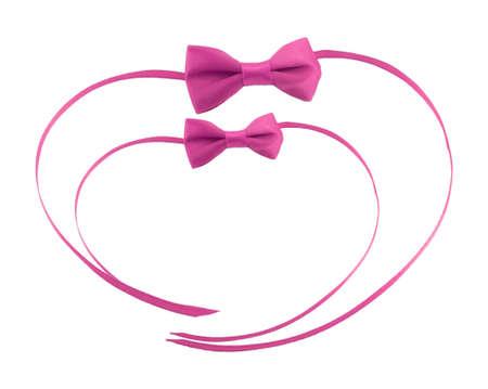 bow ribbon isolated on white background Stock Photo - 17142361