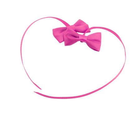 bow ribbon isolated on white background Stock Photo - 17142342