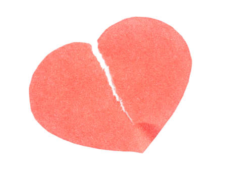 red heart on a white background photo