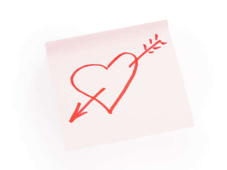 red heart on a white background Stock Photo - 17408294