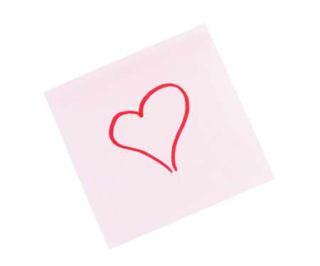 red heart on a white background Stock Photo - 17408292