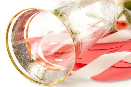 wineglass isolated on white background photo