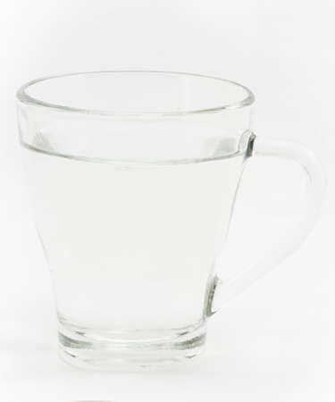 glass cup isolated on white background photo