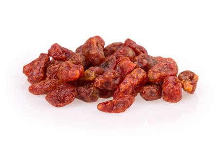 dried fruit raisins, cranberries isolated on white background photo