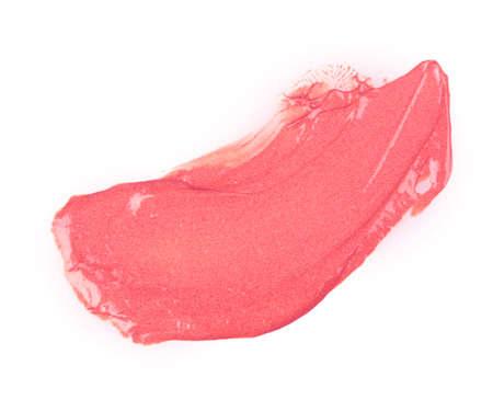 uitstrijkje verf of ijs geà ¯ soleerd op een witte achtergrond