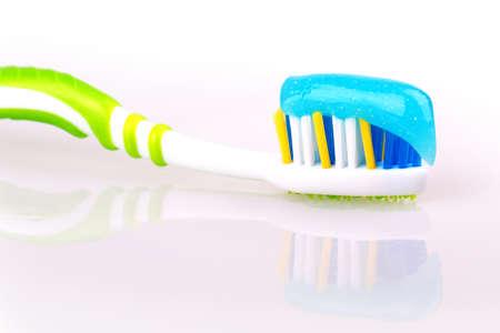 toothbrush isolated on white background photo