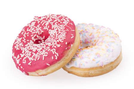 donut isolated on white background photo