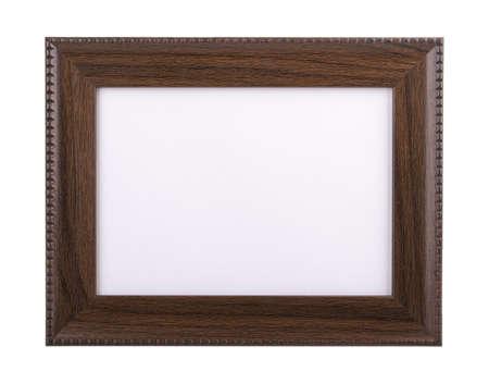 Bilderrahmen aus Holz isoliert auf weiß Lizenzfreie Bilder