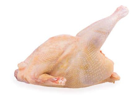 carcass: kip karkas geïsoleerd op witte achtergrond Stockfoto