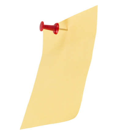 Yellow note paper  photo