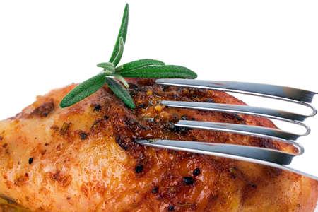roasted chicken ham rosemary photo
