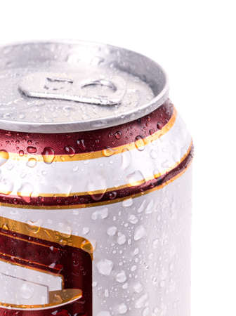 beer can complete closure of the close-up photo